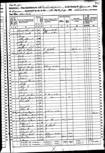 CENSUS 1860 Davidson Samuel P and Milly