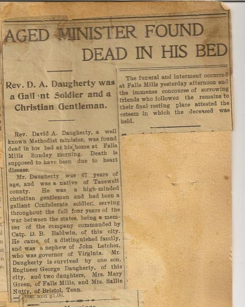 OBITUARY Daugherty David 1836-1904