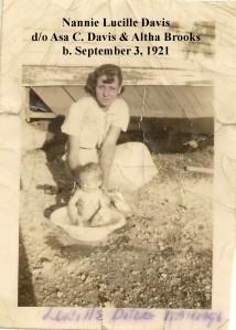 BUCKLAND Lucille Davis  babysitting
