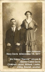 JOHNSON Jake & Mary Johnson (Asa Davis' sister)