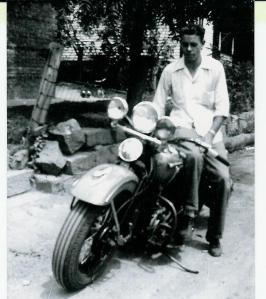 BUCKLAND Walter on motorcycle