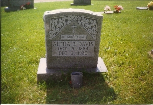 MAPLEWOOD - Davis Altha R. Brooks Grandma Davis 1884-1980