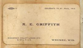 Calling Card AE Griffith