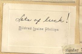 Calling Card Mildred Louise Phillips
