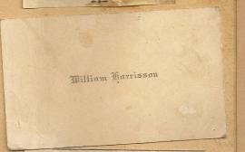 Calling Card William Harrison