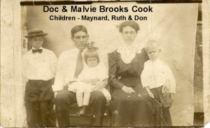 BROOKS Aunt Malvie, Uncle Doc Cook, Maynard, Don, Ruth
