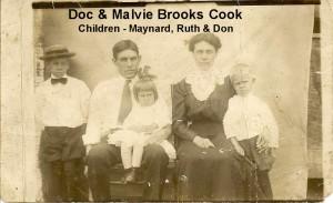 BROOKS Aunt Malvie, Uncle Doc Cook, Maynard, Don, Ruth