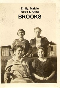 BROOKS Emily, Malvie, Rose Altha