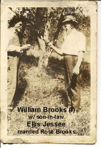 BROOKS Wm Brooks, Uncle Ellis Jessee